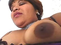 Chubby ebony in stockings enjoys dildo black chubby movies