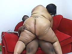 Ebony fatties give each other hot orgasms black chubby movies