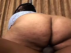 Steamy black BBW slut gets plugged hard black chubby movies
