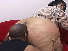 BBBW Farrah Gets Drilled Like a Dog black chubby movies