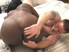 White guy fucks ardent fat ebony