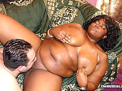 Big Titted Black Chick's Pussy Fucked black chubby movies