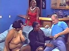 Ebony plumper sucks with big ass black huge cock