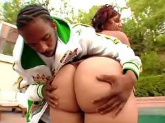 Booty ebony BBW spoils black friend black chubby movies